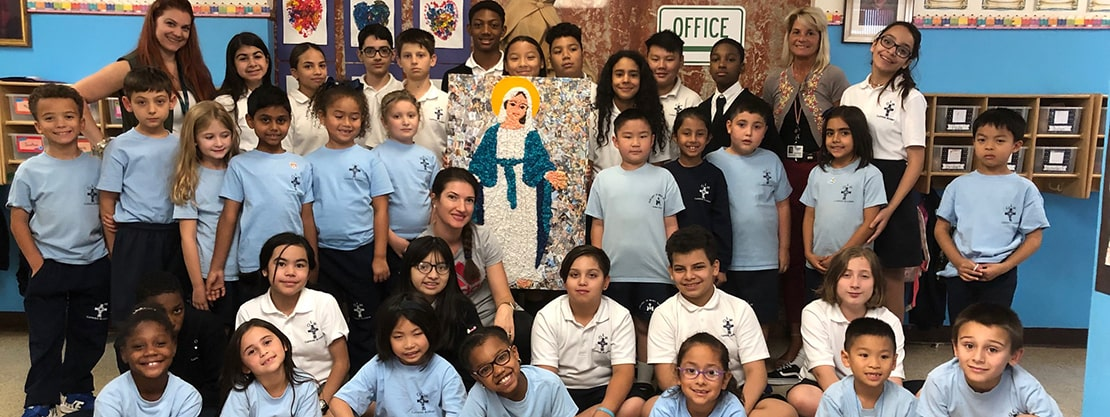 Our Lady of Mercy Catholic Academy students group picture