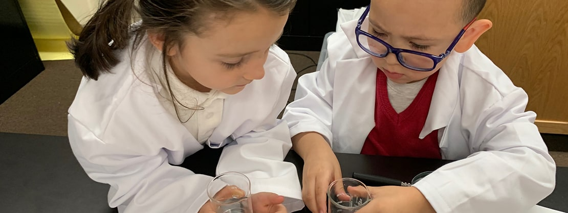Our Lady of Mercy Catholic Academy students science lab